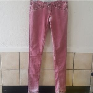 Parasuco jeans red low rise skinny size 27 EUC